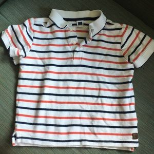 Janie and Jack red and blue striped polo